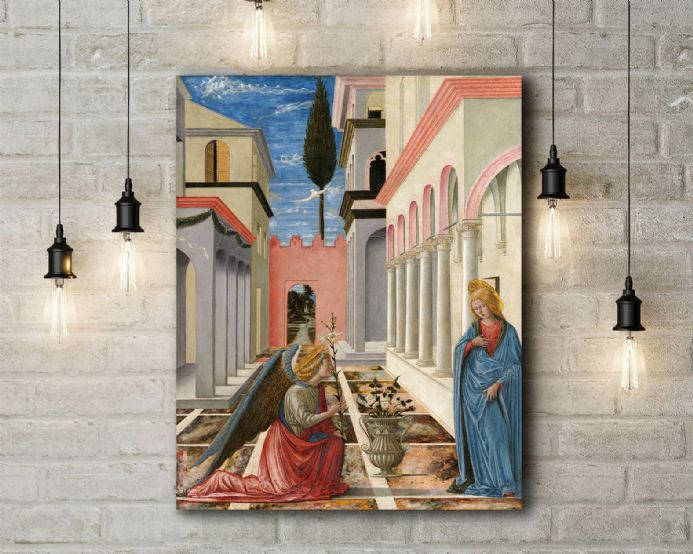 Carnevale: The Annunciation. Fine Art Canvas.